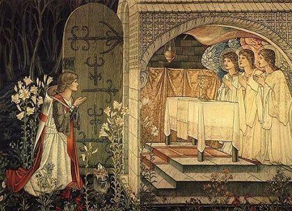 Holy Grail Tapestry (portion) | Knight art, Art, Edward burne jones