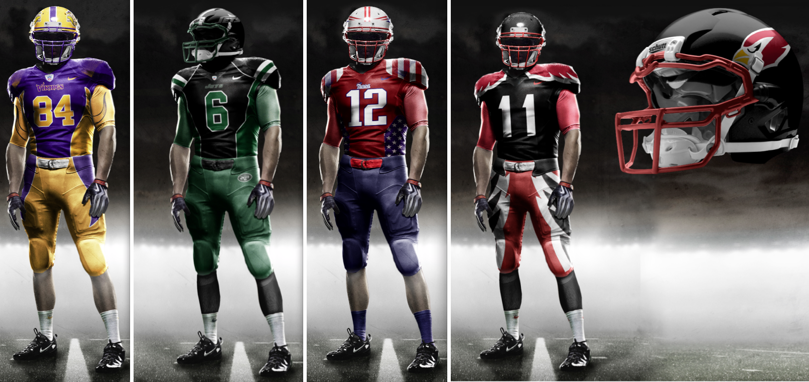 4d9c5536ece New NFL uniform prototype | New Nike NFL Jerseys | New nfl uniforms ...