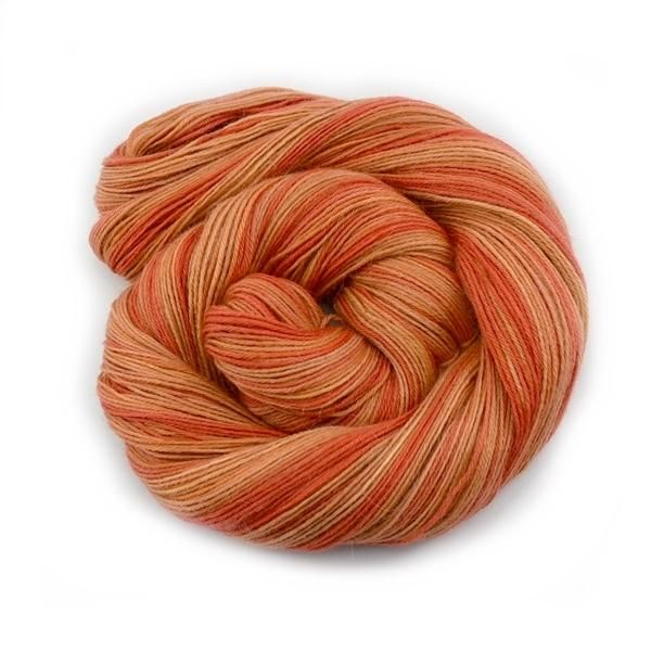 Orange Hand Dyed 4 ply Baby Alpaca Yarn | Shop Wool Online