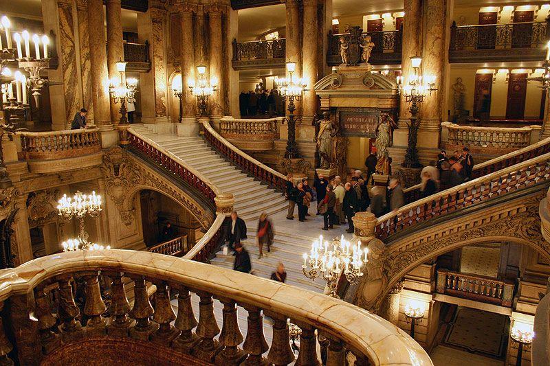Le grand escalier de l\'Opéra Garnier   Travel Destinations ...
