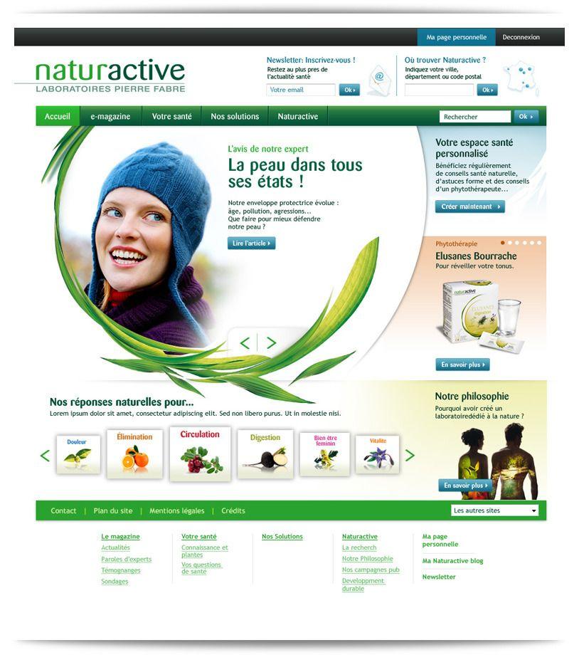 conception  direction artistique et web design du site naturative