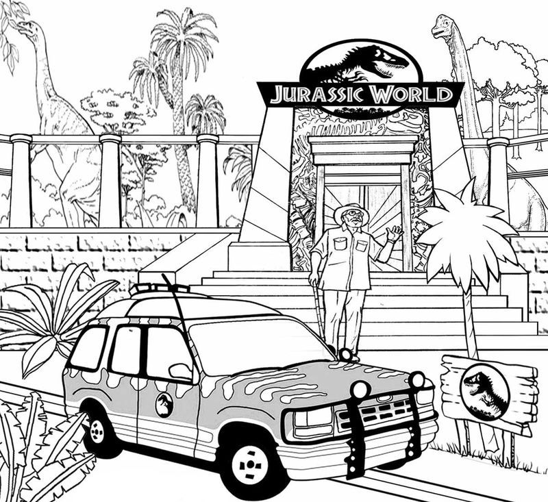 Jurassic World Evolution Coloring Pages Anak