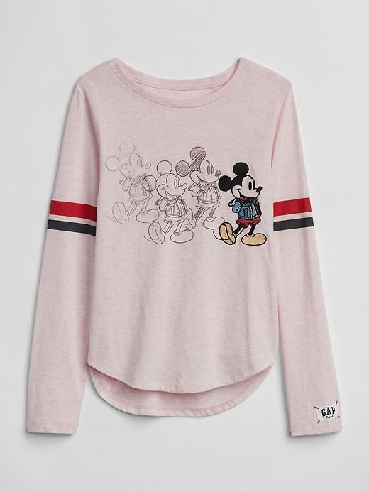 41cf5d8a Gap Girls Gapkids | Disney Mickey Mouse And Minnie Mouse T-Shirt Pink  Heather