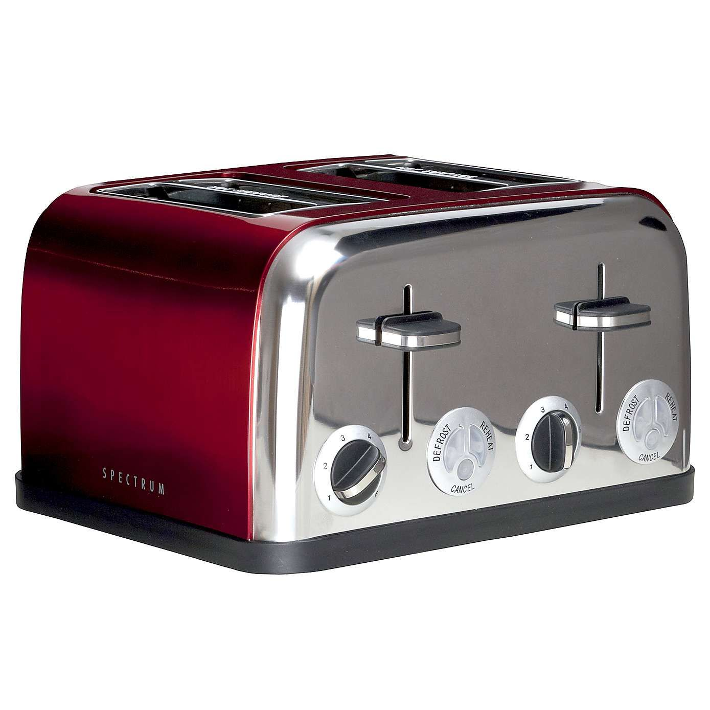 Spectrum Red 4 Slice Toaster Red 4 Slice Toaster Toaster Red Toaster