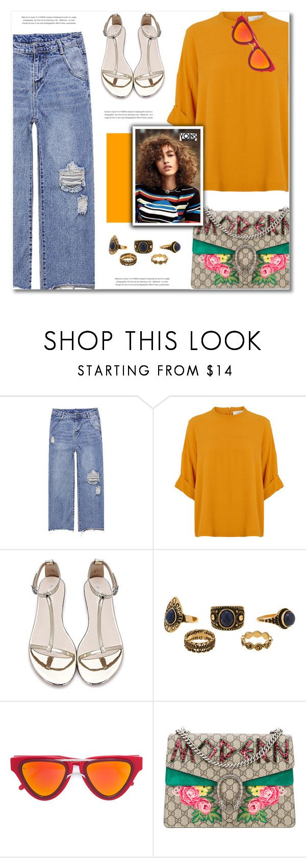 """YOINS"" by defivirda ❤ liked on Polyvore featuring Smoke x Mirrors, Gucci, yoins, yoinscollection and loveyoins"