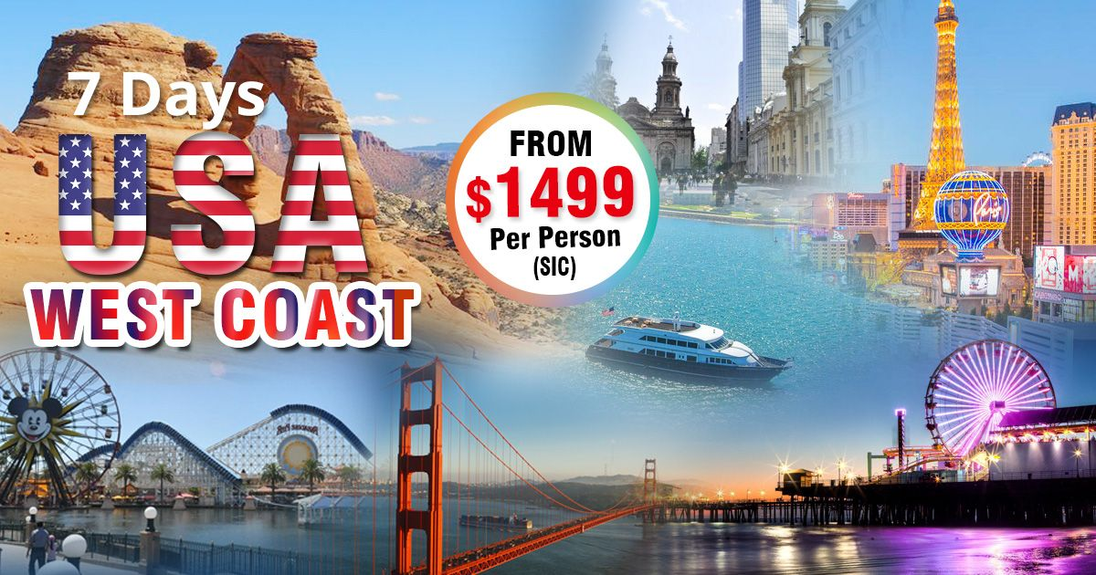 USA West Coast: 7 Days SIC Tour Package  Book America Tour