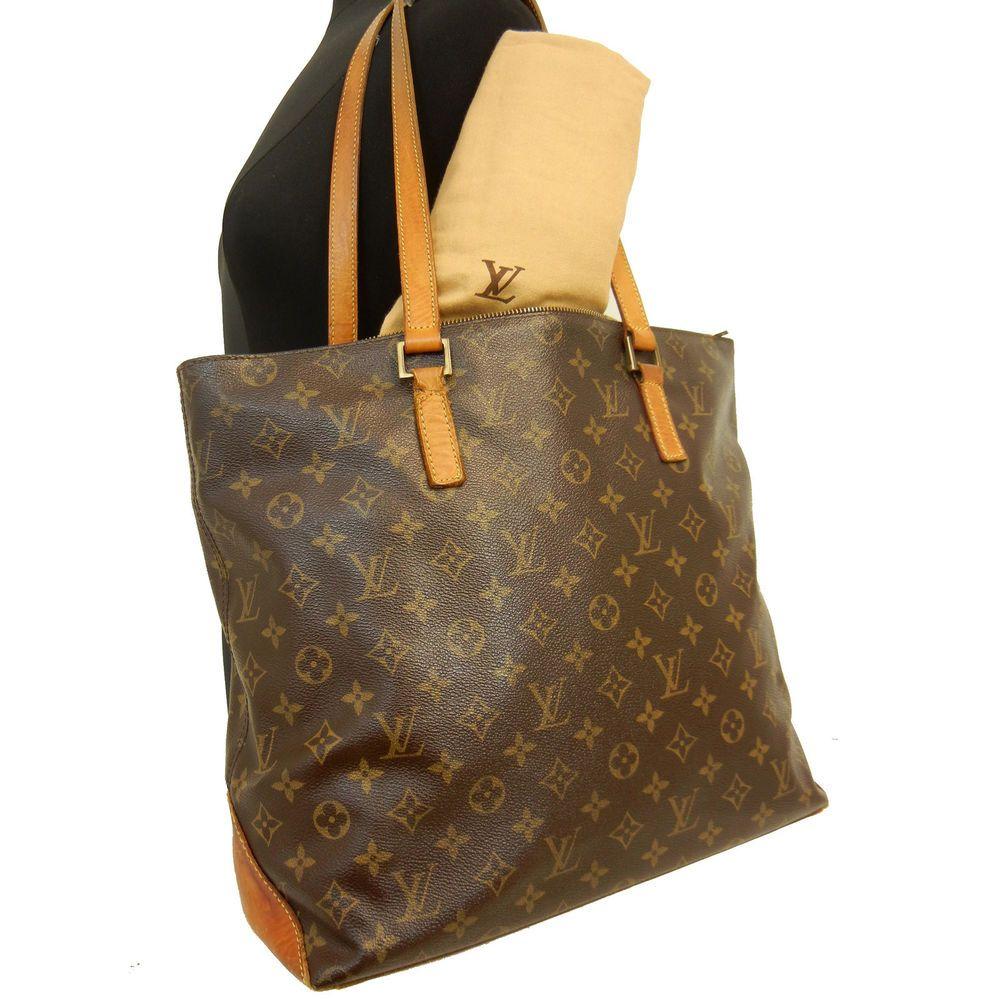 a07ab63c6b1 LOUIS VUITTON Monogram CABAS MEZZO LV Tote Shoulder Bag Handbag ...