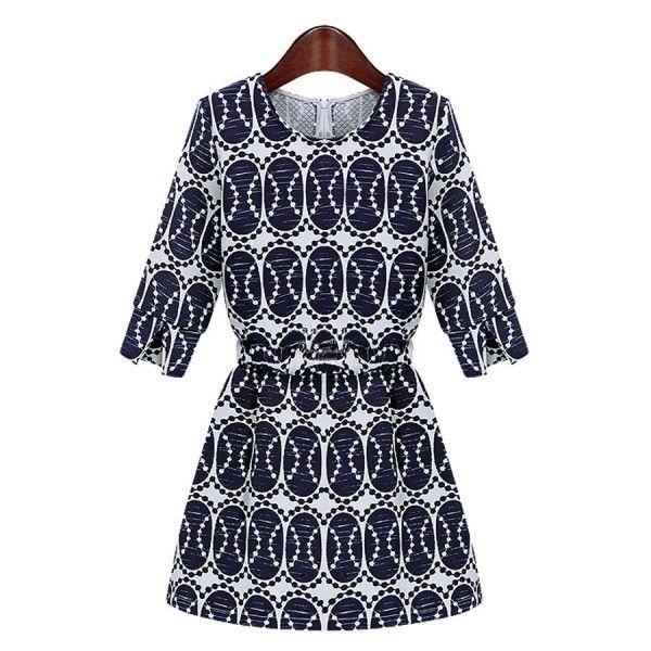 Female-chic Vintage Half Sleeve Dress ($29) found on Polyvore