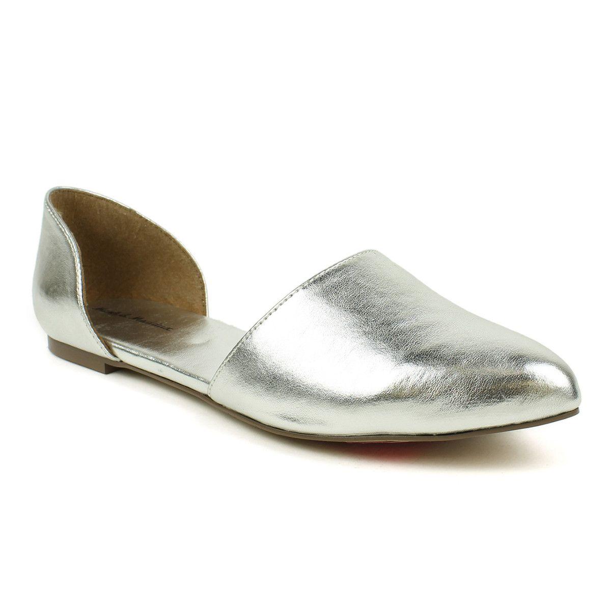 Fab.com | Ballerina Flat Silver