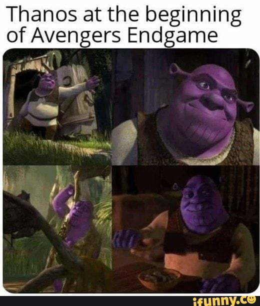 Thanos At The Beginning Of Aven Ers End Ame Ifunny Funny Marvel Memes Marvel Jokes Marvel Memes
