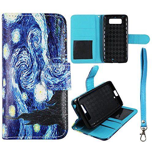 quality design 0e6bf 872fa Flip Wallet Blue Design Motorola Droid Mini XT1030 Verizon Leather ...