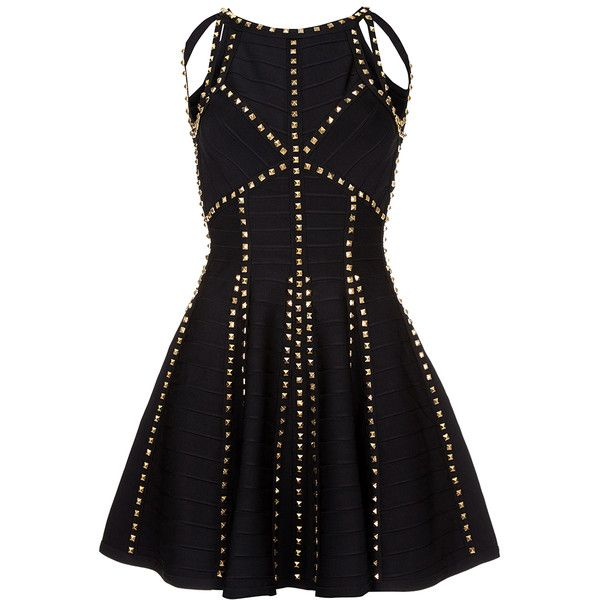 LACEY Black Bandage Skater Dress ❤ liked on Polyvore featuring dresses, bandage skater dress, skater dress, evening wear dresses, bandage cocktail dresses and skater prom dress