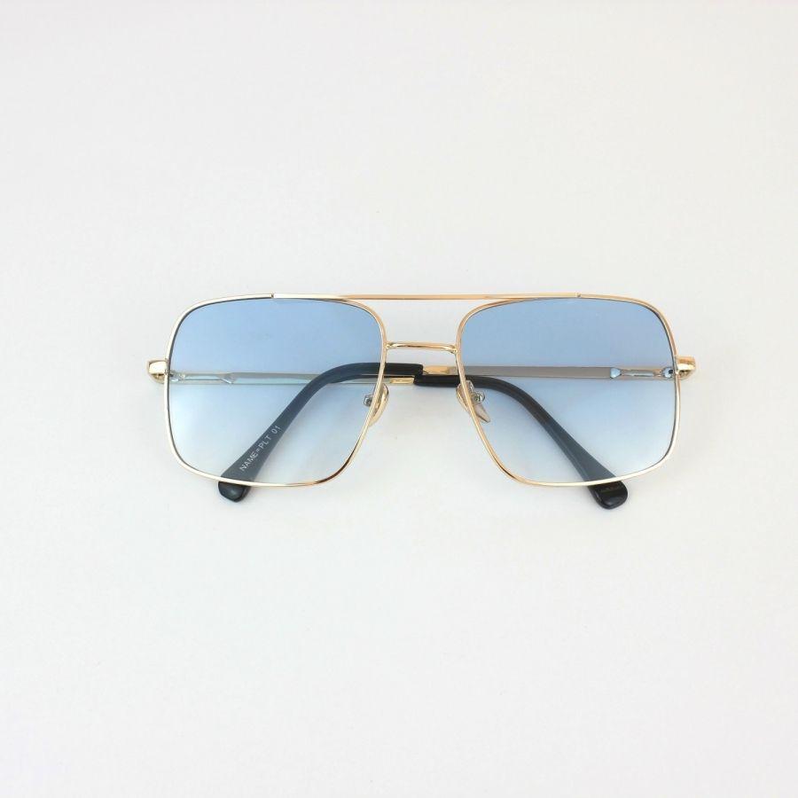 58f37687d30 Mexx Gold Metal Çerçeveli Mavi Camlı Kare Köşeli Unisex Güneş Gözlüğü