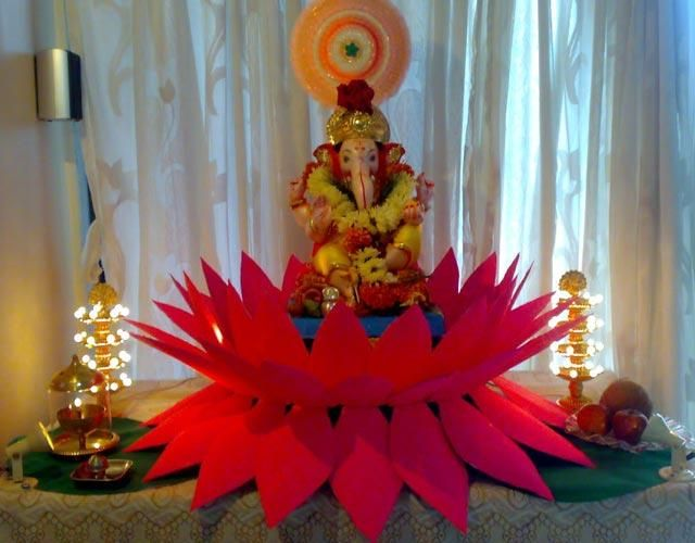 ganesh chaturthi decoration ideas for home mandap ganesha