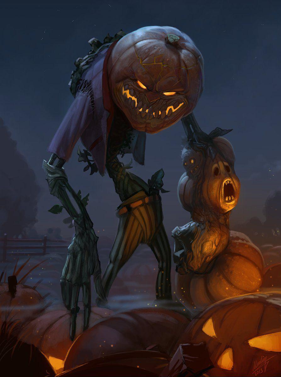 Yury Voronov Pumpkin Jak Jpg 893 1200 Halloween Artwork Halloween Art Monster Artwork