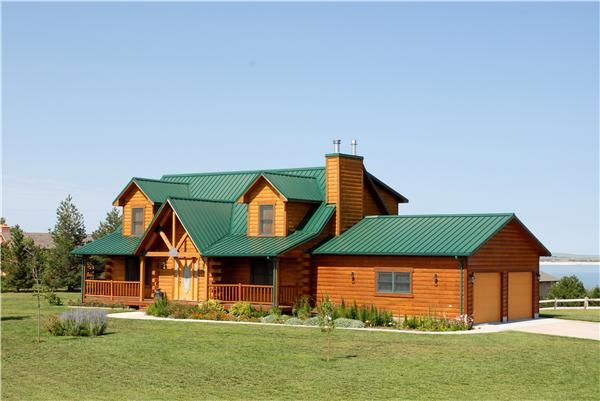 Residence Forest Green Steel Siding Cedar Roofing House