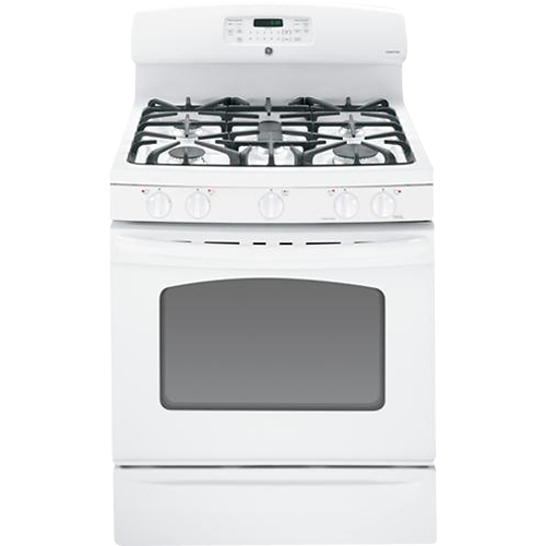Ge 30 Self Cleaning Freestanding Gas Convection Range White