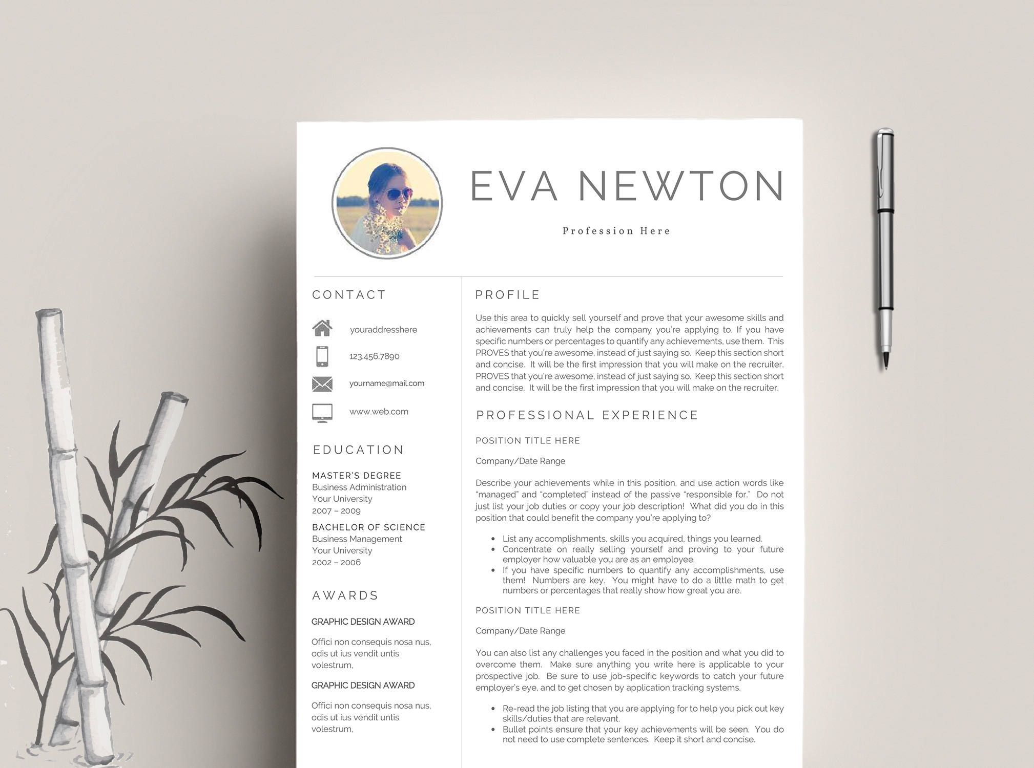 Professional resume template cv template cover letter professional resume template cv template cover letter creative and modern resume teacher resume word resume instant download yelopaper Gallery