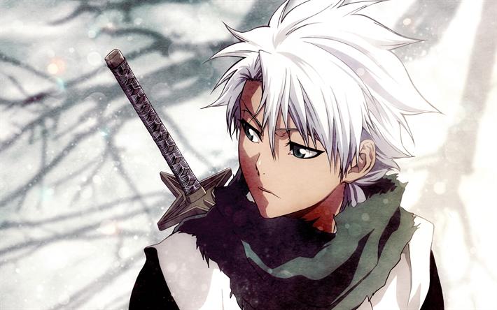 T l charger fonds d 39 cran hitsugaya toushirou le capitaine de l 39 eau de javel 4k manga - Image de personnage de manga ...