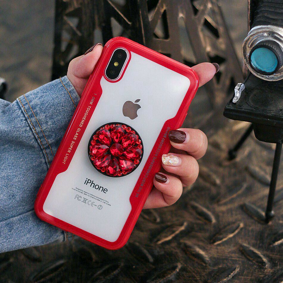 Case with pop up holder phone for iphone x xs max 6 7 8