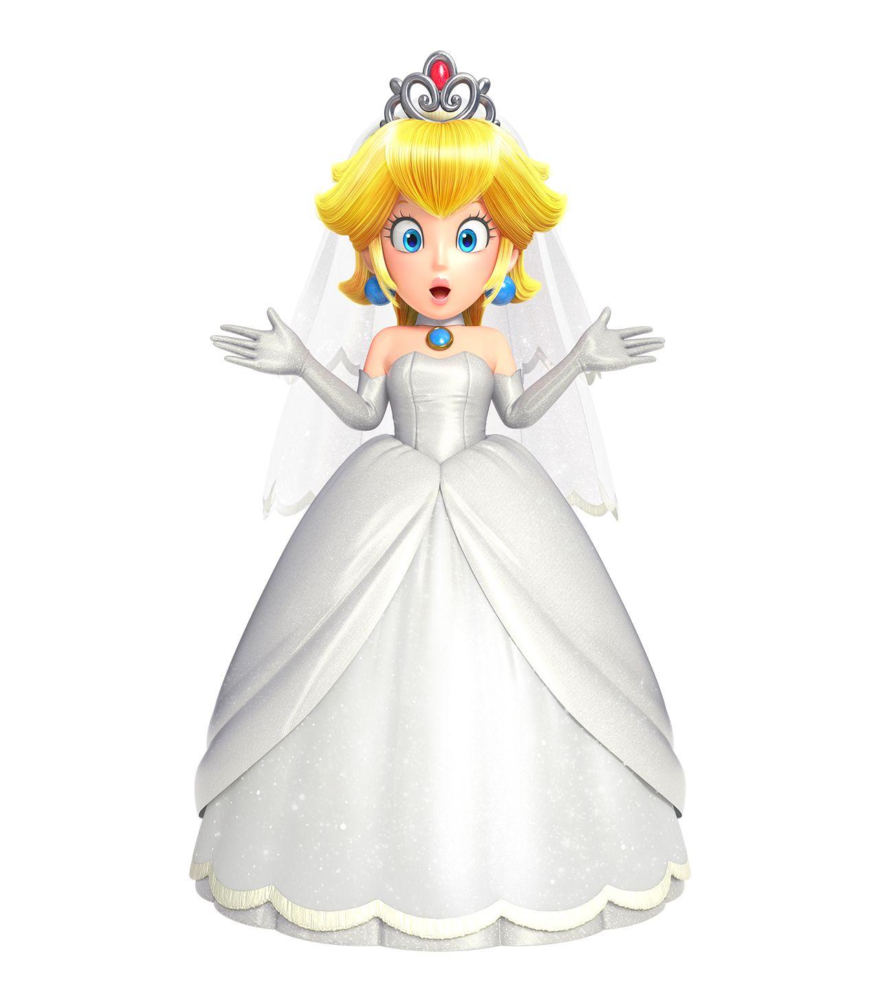 Princess peach bridal dress super mario odyssey super for Princess peach wedding dress