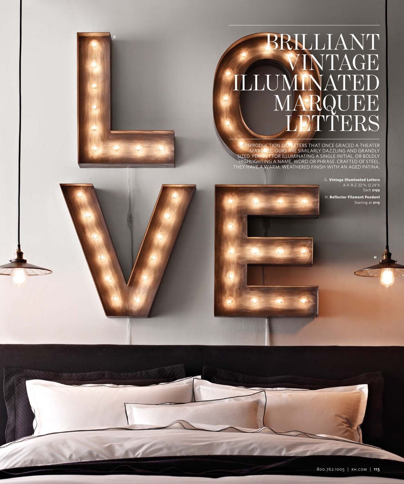 Illuminated Marquee Letters | Restoration Hardware