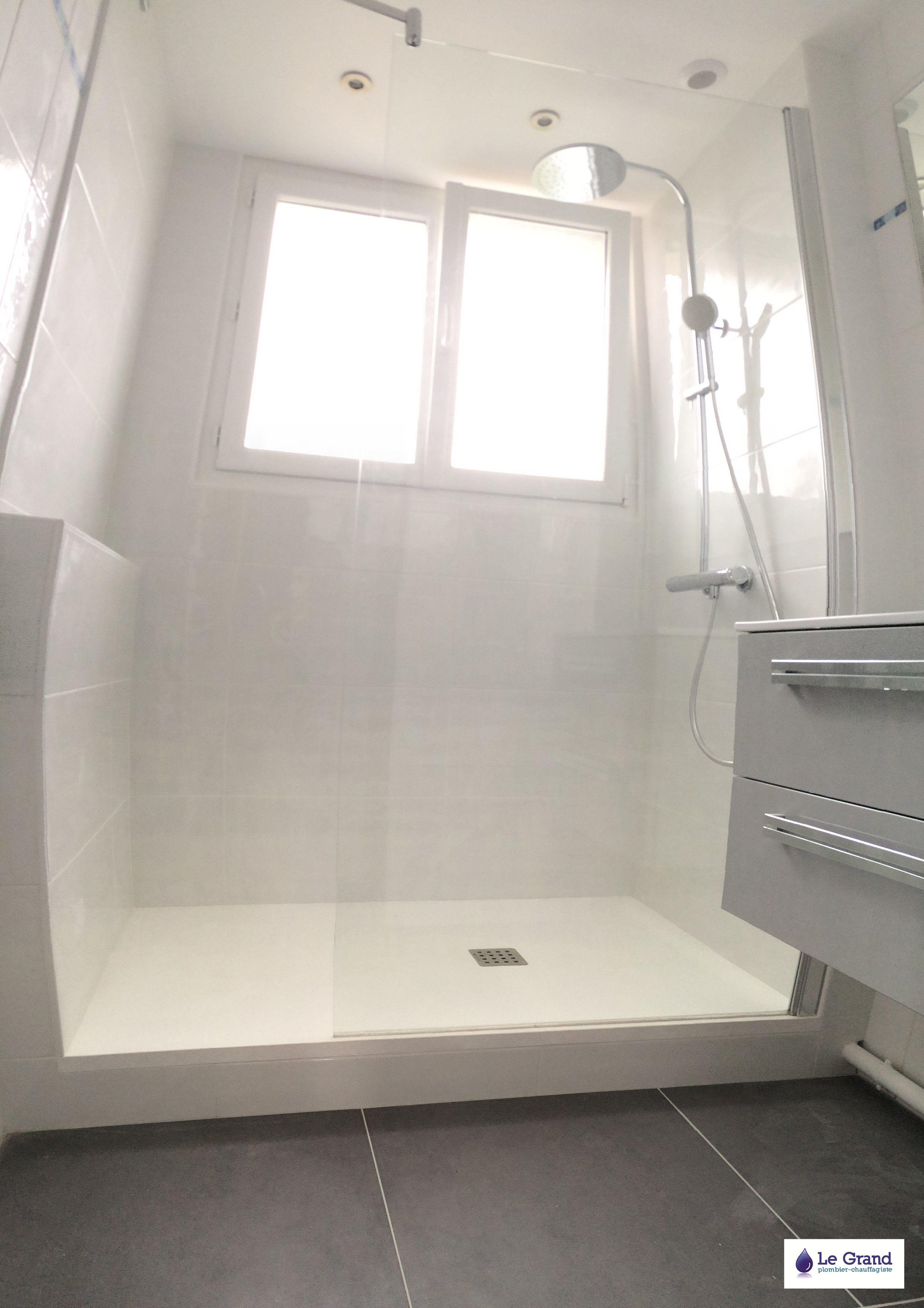 httpslegrandthomasplombierfileswordpresscom201303salle de bains rennes le grand plombier chauffagiste receveur aquabella blancjpg pinterest - Aquabella Salle De Bain