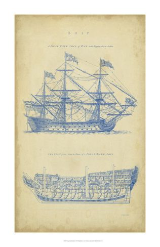 Vintage ship blueprint ships building and printing love this vintage ship blueprint malvernweather Choice Image