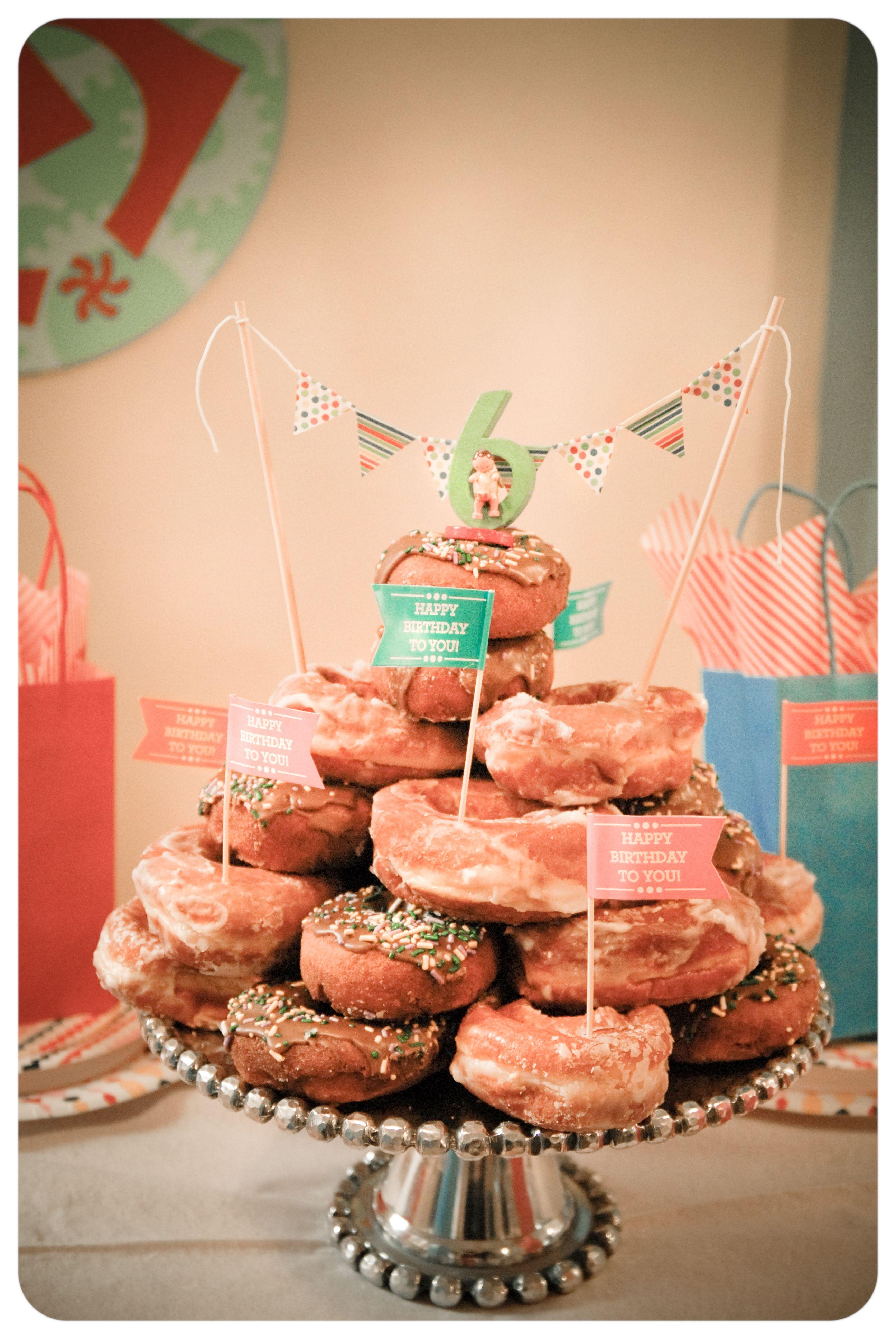 My Boy S Donut Birthday Cake Birthday Cake Decorating Love