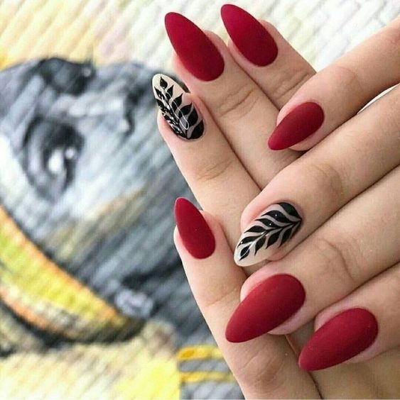 New Year Red Nail Styles To Inspire You 2020 Paznokcie Zelowe Ladne Paznokcie Sliczne Paznokcie