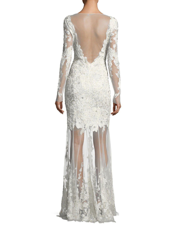 Elie Tahari Larsa Floral Lace Illusion V Neck Dress Designer Cocktail Dress Dresses V Neck Dress [ 1500 x 1200 Pixel ]