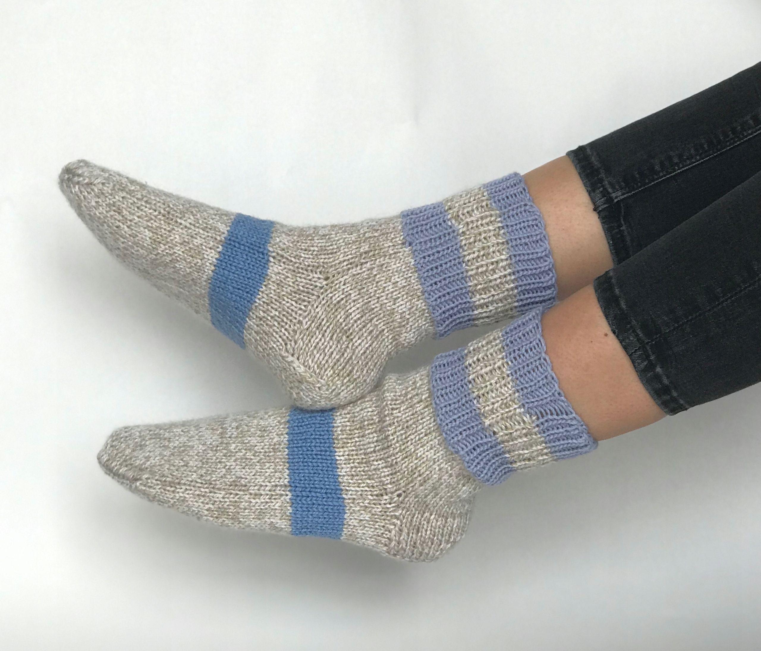 Skarpety Robione Na Drutach Welniane Rekodzielo 8909972336 Oficjalne Archiwum Allegro Knit Leg Warmers Wool Socks Mens Hand Knit Socks
