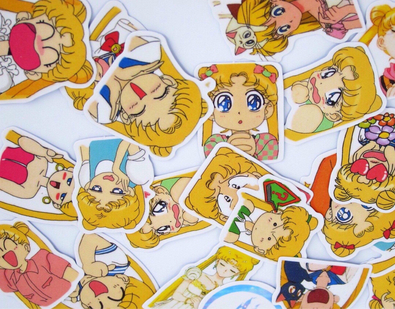 sailor moon character stickers sailor moon stickers luna cat