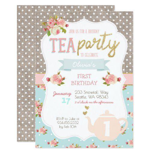 Tea Party Birthday Invitation \u2022 Tea for Two Invitation \u2022 Tea Party Invitation \u2022 Tea for 2 Invitation \u2022 Tea for Two Birthday Invitation