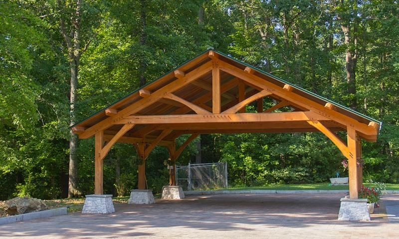 Custom built wood carports diy post and beam carport for Carport garage plans