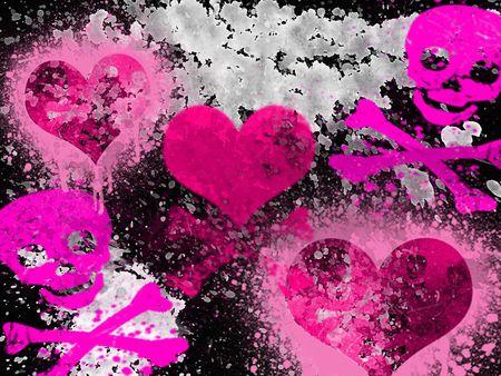 Pink Emo Punk Desktop Nexus Wallpapers Emo Wallpaper Emo Girl Wallpaper Skull Wallpaper