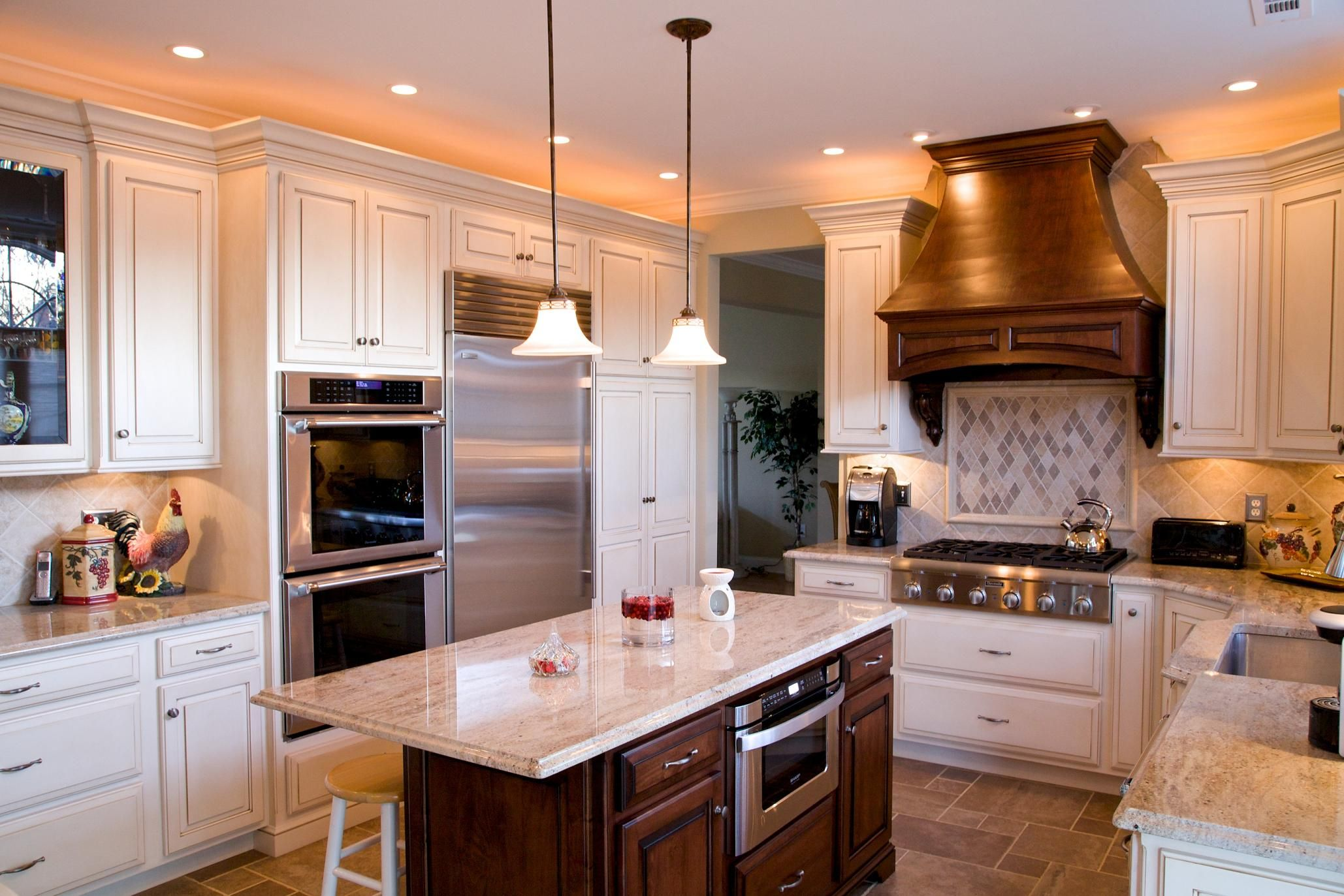 Kashmir Gold Granite Countertops With Cream Cabinets. Kitchen By Stoneshop  From Cherry Hill, NJ