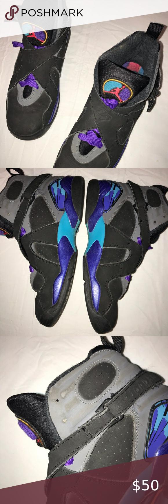 Air Jordan Retro 8 Aqua size 7 youth in