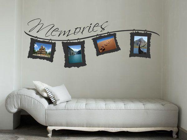warum nicht mal ein wandtattoo als fotorahmen verwenden diy basteln mehr bilderrahmen. Black Bedroom Furniture Sets. Home Design Ideas
