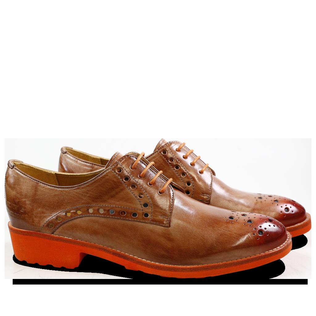 Amelie Nude amelie 7 cappu toe orange rook d orange   fashion - shoes