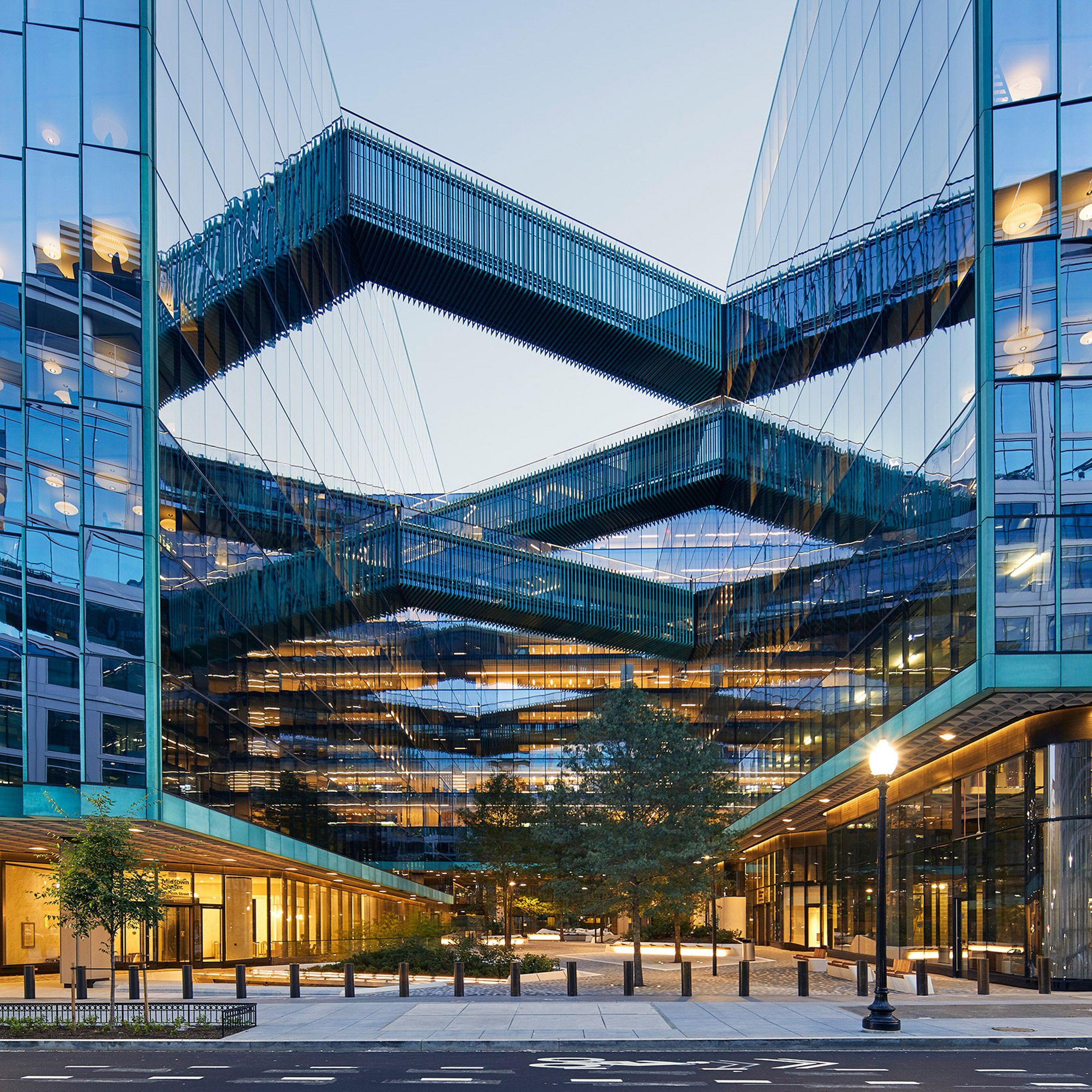 Midtown At Town Center: Sky Bridges Criss-cross SHoP's Midtown Center In