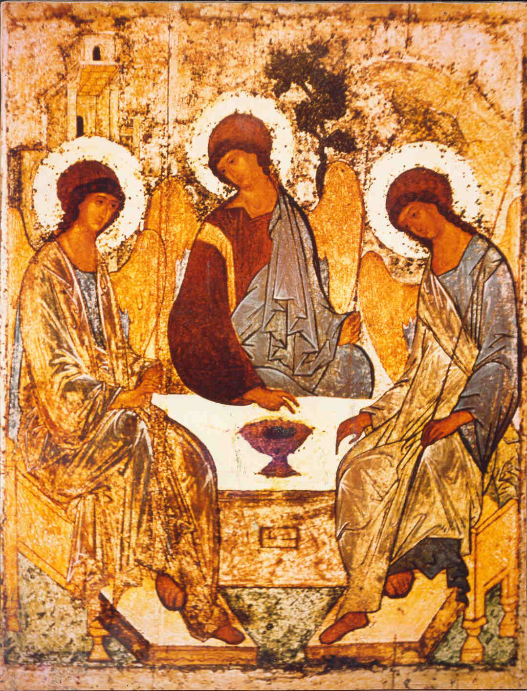 The Holy Trinity Andrei Rublev Big. Orthodox Icons