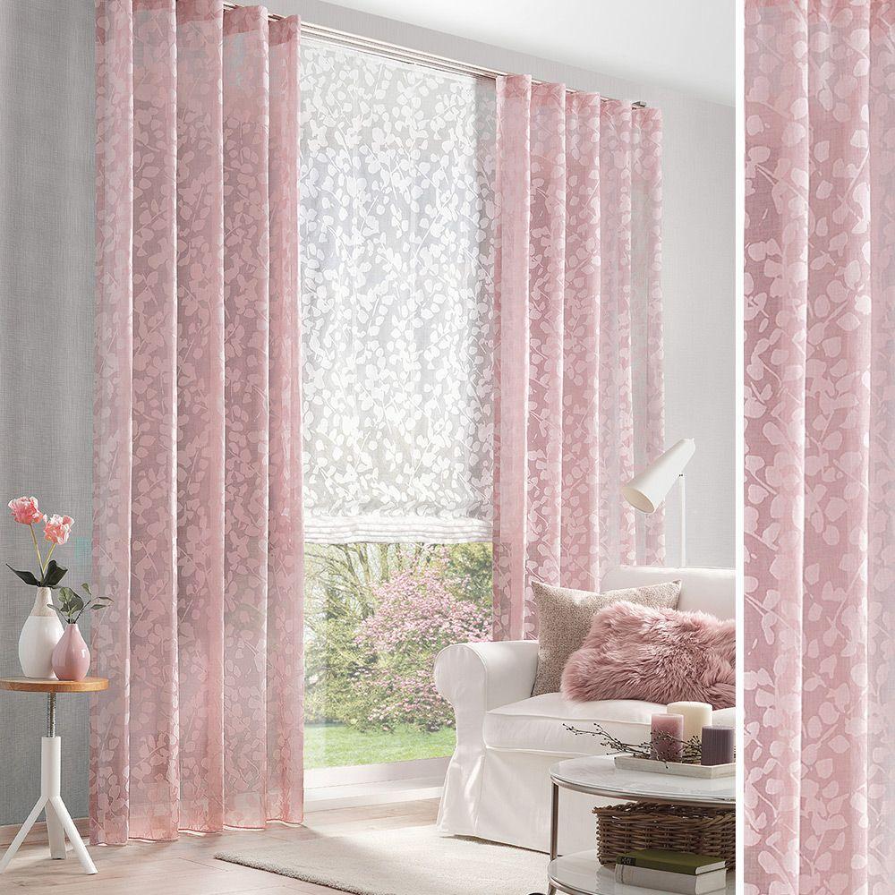Florale Gardine Fur Ihr Wohnzimmer In 2020 Mit Bildern Haus Deko Gardinen Blickdichte Vorhange
