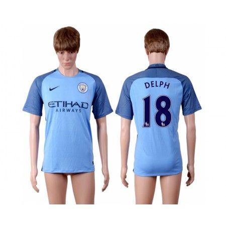 Manchester City 16-17 #Delph 18 Hjemmebanetrøje Kort ærmer,208,58KR,shirtshopservice@gmail.com