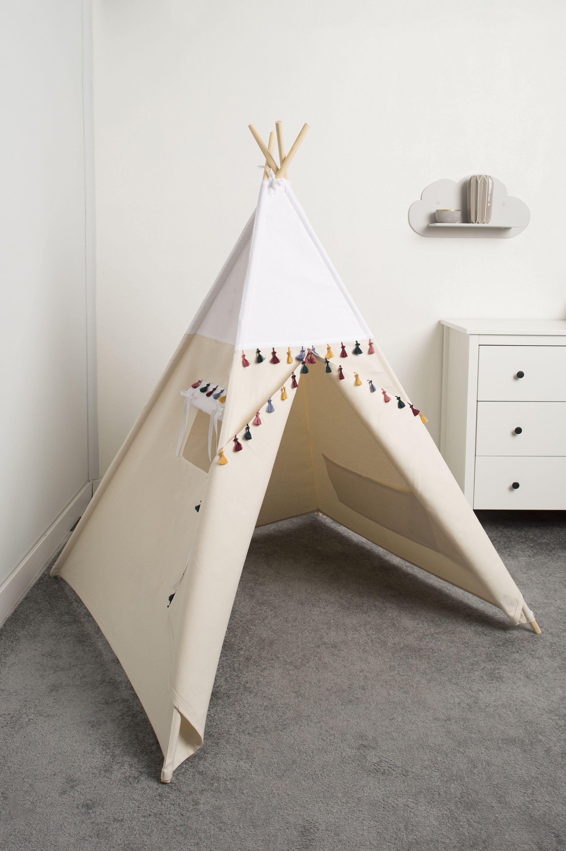 Welp TIPI, Children room decoration - teepee tent White Boho style WL-09