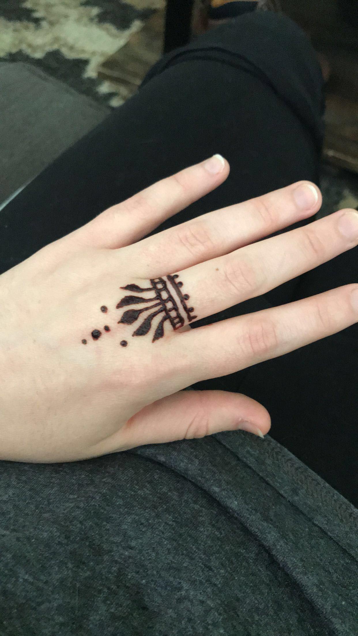 Beginner hand henna design 1 (With images) Hand henna