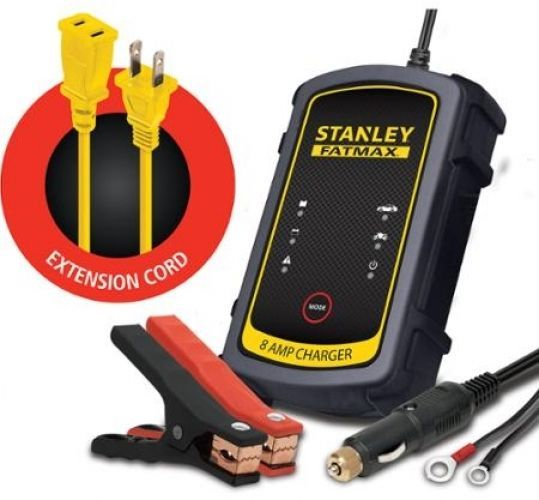 Stanley Fatmax 8a 3 Way Car Battery Trickle Charger Tender Bundle Pack Battery Charger Car Battery Charger Car Battery