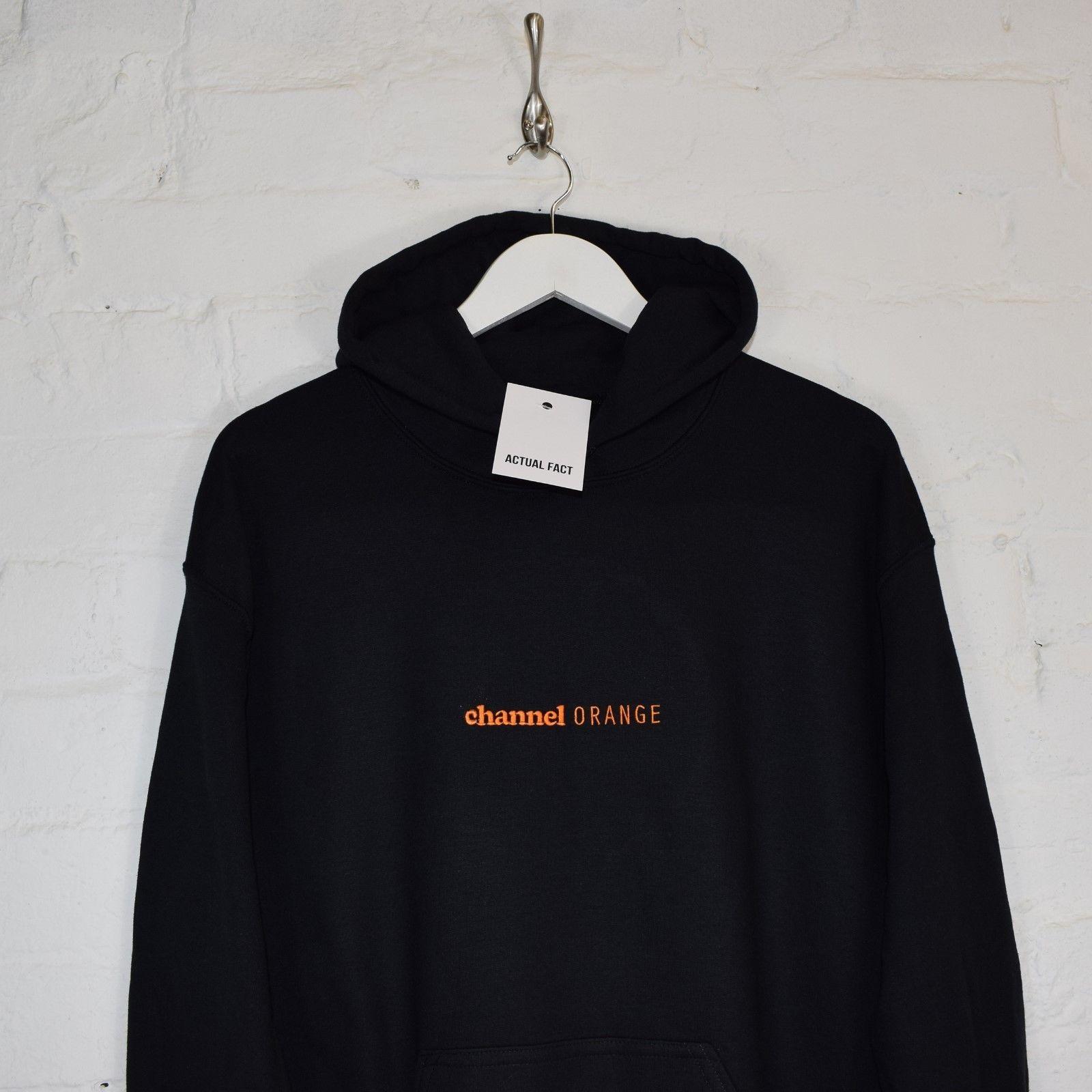 Channel Orange Embroidered Black Hoodie Hooded Top By Af Hoodies Black Hoodie Hoodie Fashion