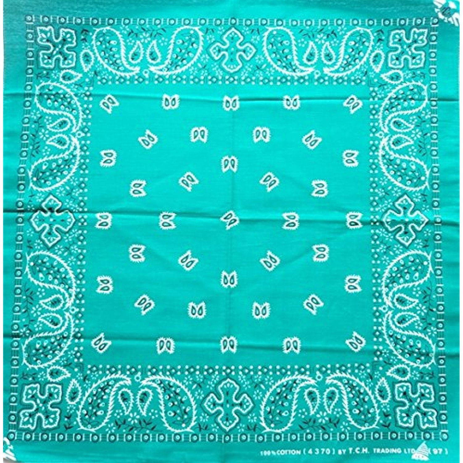 Green Paisley P97 Head Wrap Dusk Mark Bandana Scarf Handkerchief