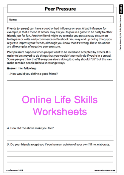 Life skills   Grade 4  LS   Test  Strengths  weaknesses and emotions further Life Skills Lesson Plan Intermediate Phase Primary Grade 6 also Grade 6 Online Life Skills Worksheet r pressure  For more together with  further life skills money management worksheets as well Math addition and subtraction of integers worksheet from  100 to 100 furthermore  further Pin by Lisa Fernandez on May   Pinterest   Reptiles pre additionally Life Skills Math Worksheets Prehension Skills Short Pages for besides practical math worksheets furthermore Main Idea Worksheets Grade 6 Sixth 6th Pdf together with  also  moreover Grade 2 counting money Worksheet   Canadian nickels  dimes in addition States of matter  Lesson 1 for Kids  Cl 4 Cl 5 Grade 4 Grade 5 as well Gr6 PSW P 2 Term 1 Grade 6 Life Skills. on grade 6 life skills worksheets
